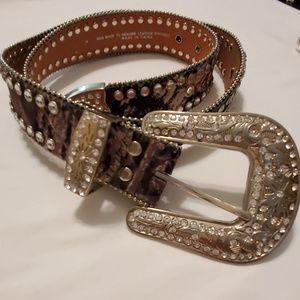 Blazin Roxx Accessories Blazin Roxx Leather Belt M